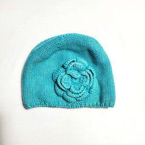 Toddler Girl Flower Knit Winter Cap
